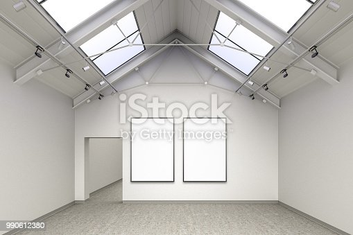 644237470istockphoto Empty gallery interior 990612380