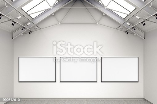 644237470istockphoto Empty gallery interior 990612610