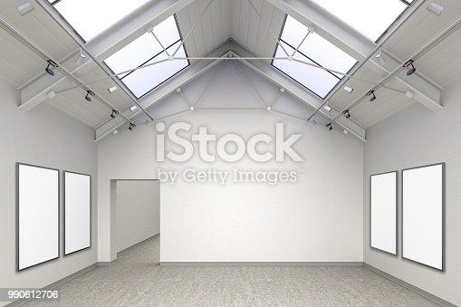 istock Empty gallery interior 990612706