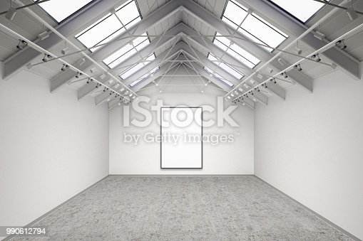 644237470istockphoto Empty gallery interior 990612794