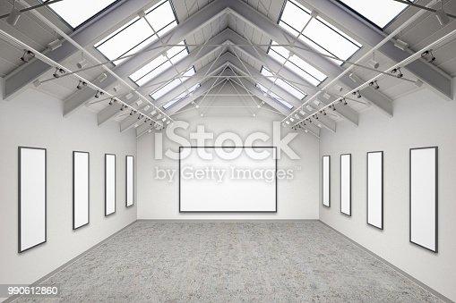istock Empty gallery interior 990612860