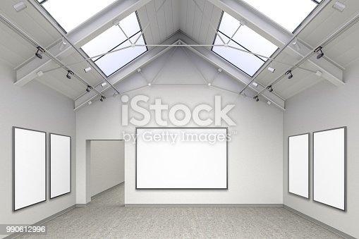 istock Empty gallery interior 990612996