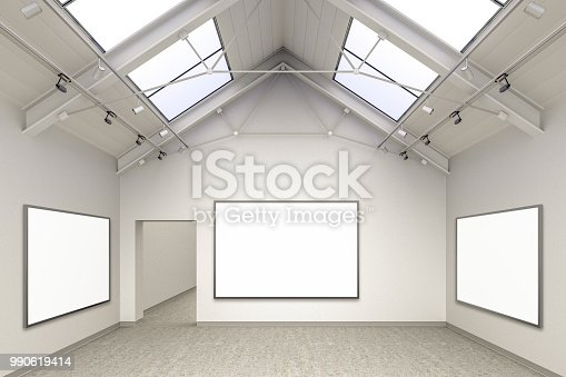 644237470istockphoto Empty gallery interior 990619414