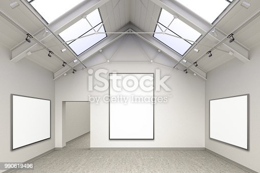 644237470istockphoto Empty gallery interior 990619496