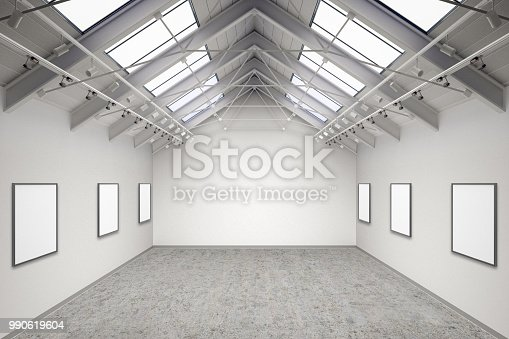 644237470istockphoto Empty gallery interior 990619604