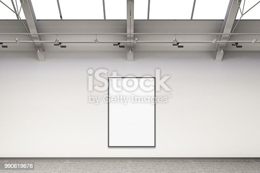 istock Empty gallery interior 990619676