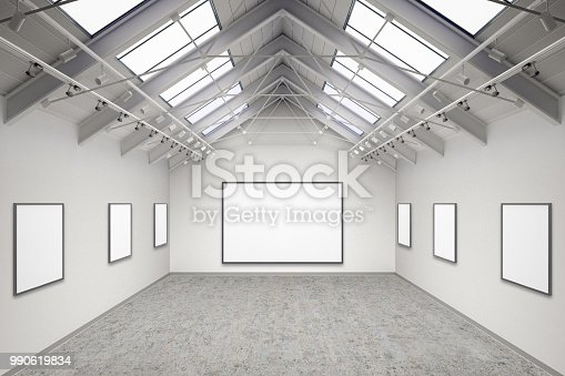 644237470istockphoto Empty gallery interior 990619834