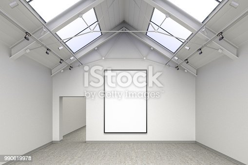 644237470istockphoto Empty gallery interior 990619978