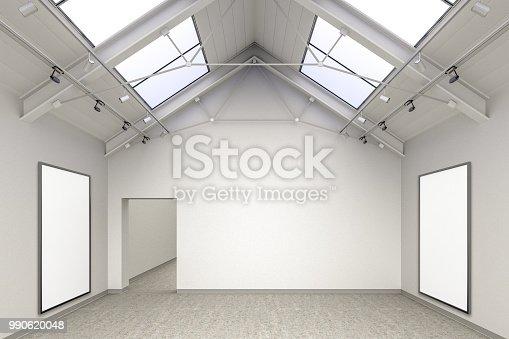 936286060 istock photo Empty gallery interior 990620048