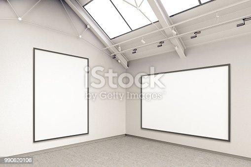 936286060 istock photo Empty gallery interior 990620106