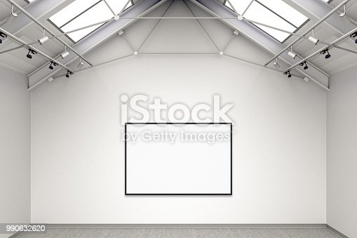 644237470istockphoto Empty gallery interior 990632620