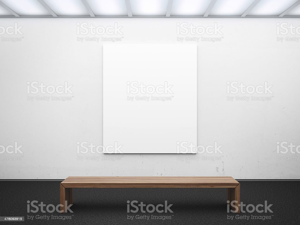 empty gallery with frame royalty-free stock photo