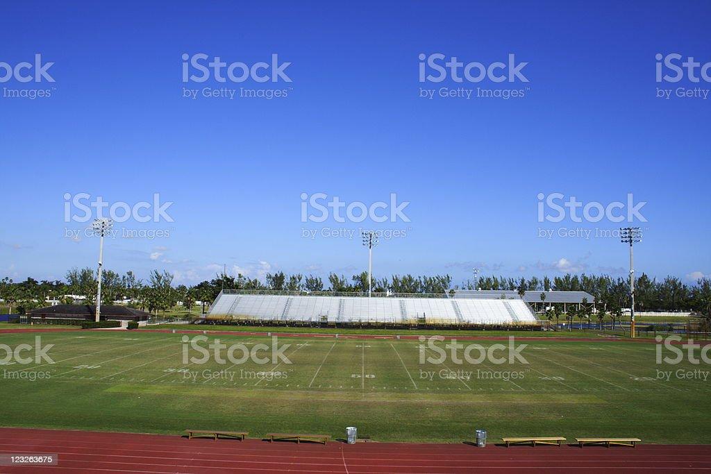 Empty Game Field stock photo