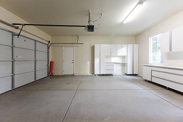 Empty Garage Closed stock photo