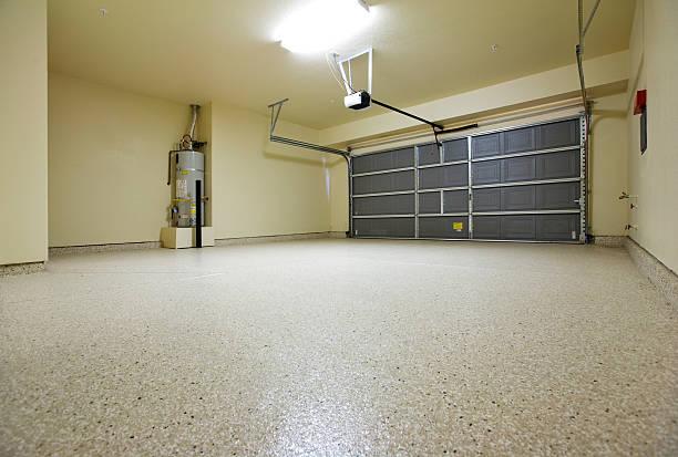 Empty Garage stock photo