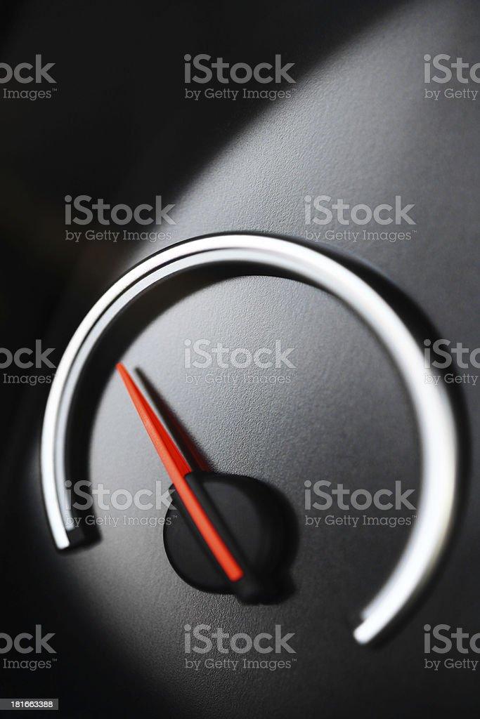 Empty gauge royalty-free stock photo