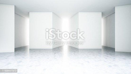 840777964istockphoto Empty Geometric Concrete Wall 1153447372