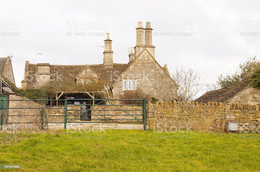 Empty Georgian Farmhouse royalty-free stock photo
