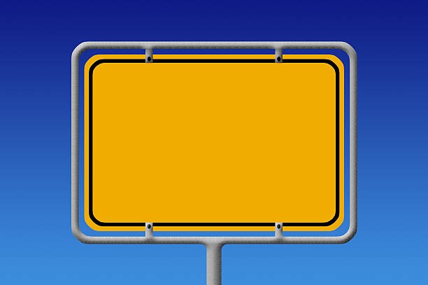 empty german city sign - place sign stock pictures, royalty-free photos & images