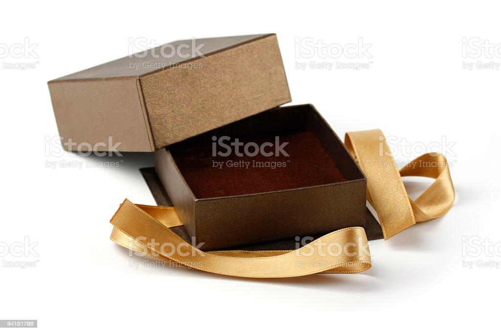 Scatola regalo vuoto - foto stock
