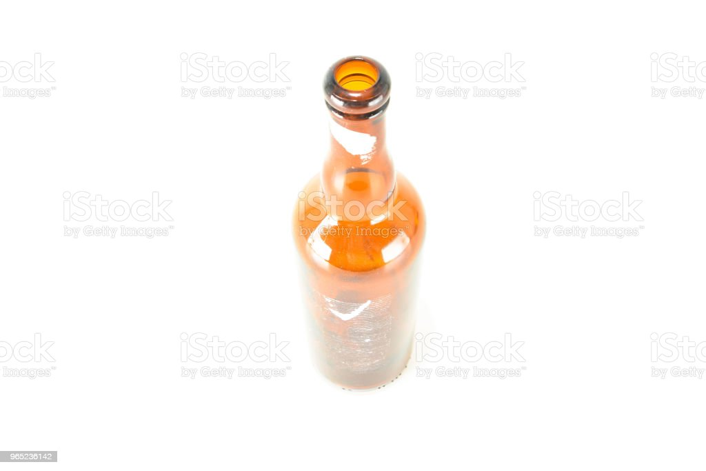 empty glass bottle royalty-free stock photo