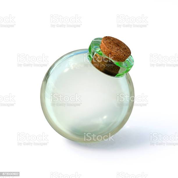 Empty glass bottle potion illustration on a white background 3d picture id873000902?b=1&k=6&m=873000902&s=612x612&h=yc6s3w59dypfdukockei qetlcmjtwpcn ljj38gonq=