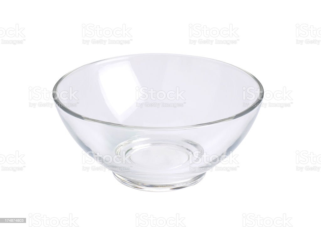 Empty Glass Bowl (Click for more) stock photo