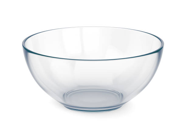 empty glass bowl - bowl stock pictures, royalty-free photos & images