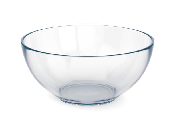 空のガラスのボウル - 深皿 ストックフォトと画像
