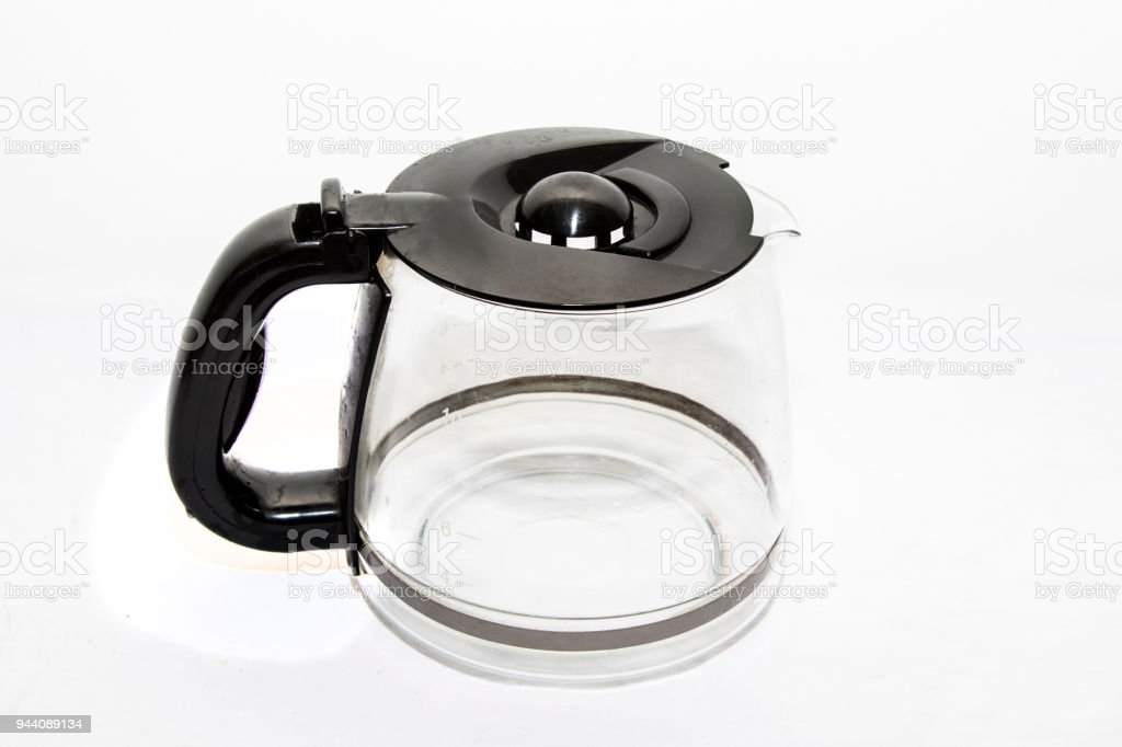 Empty Glass Coffee Pot On White Background Stock Photo Download Image Now Istock
