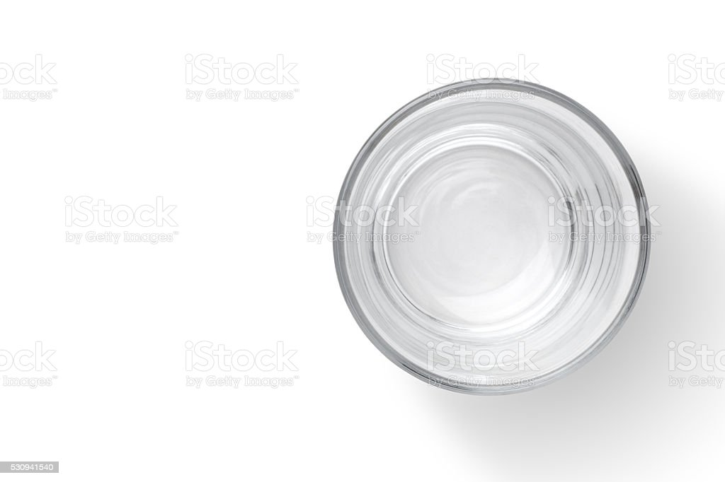 empty glass cup stock photo