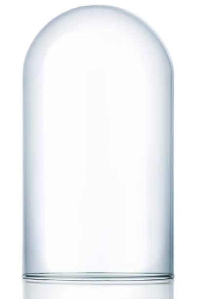 Leere Glas-Dom Vitrine, Staub Cover – Foto