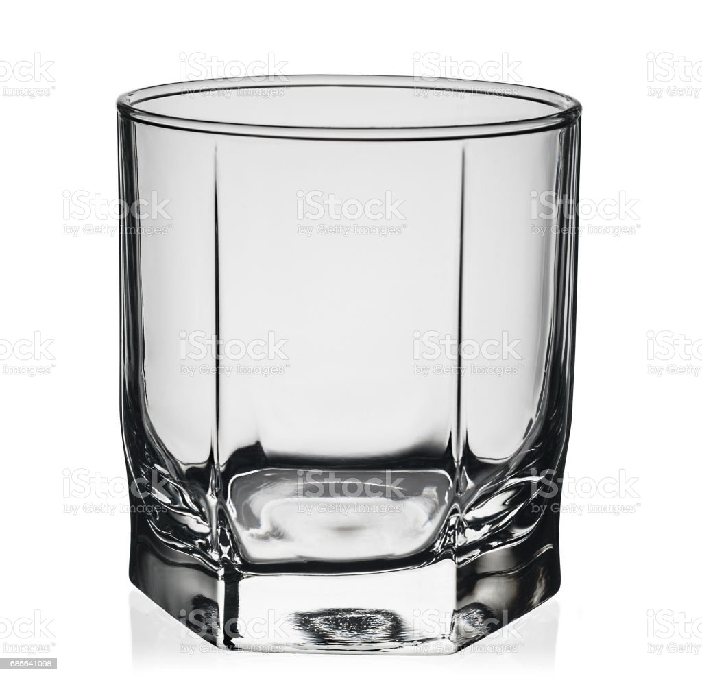 Empty glass for whiskey isolated foto de stock royalty-free