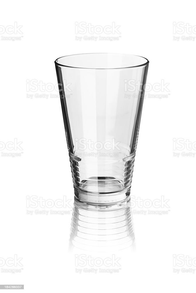 Empty glass isolated on white stock photo
