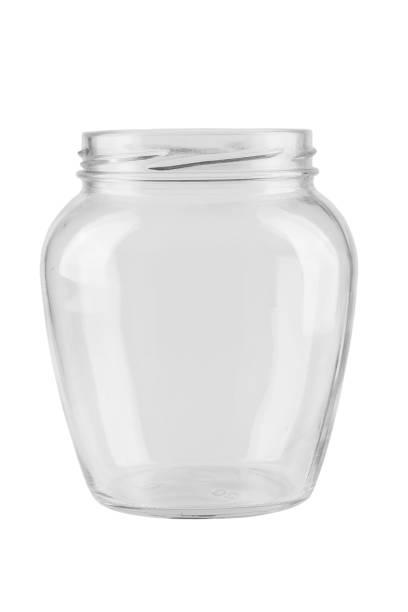 leere glas für naturschutz, isoliert auf weißem hintergrund. - topfdeckel speicher stock-fotos und bilder