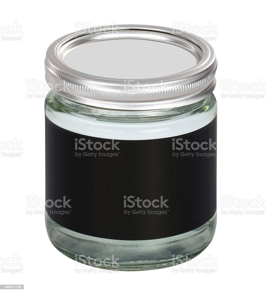 Empty glass jar isolated royalty-free stock photo