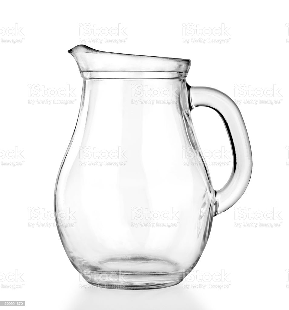 Empty glass jar on a white stock photo