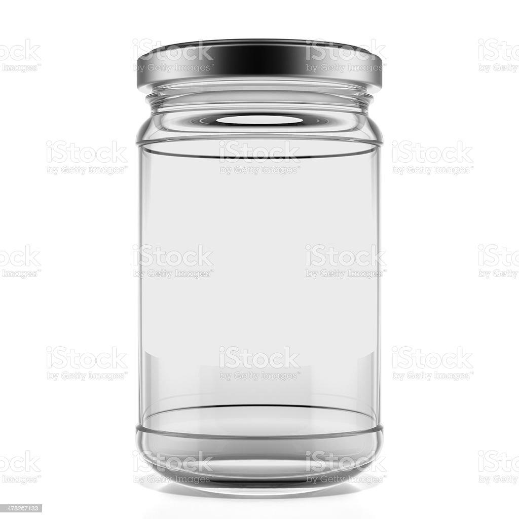Empty glass jar royalty-free stock photo