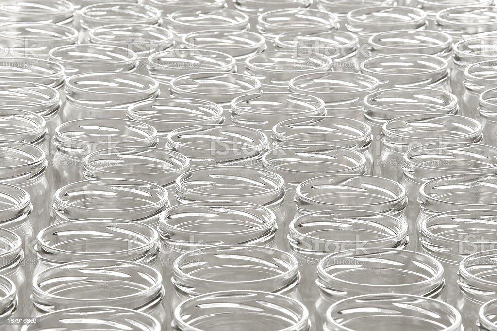Empty glass jars stock photo
