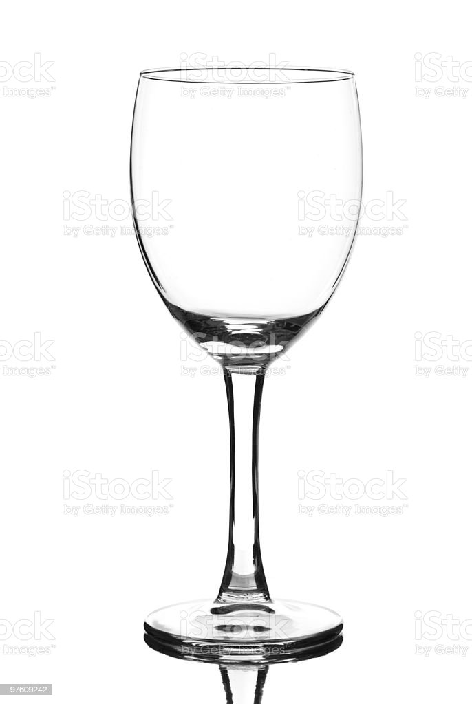 Vide verre de vin photo libre de droits