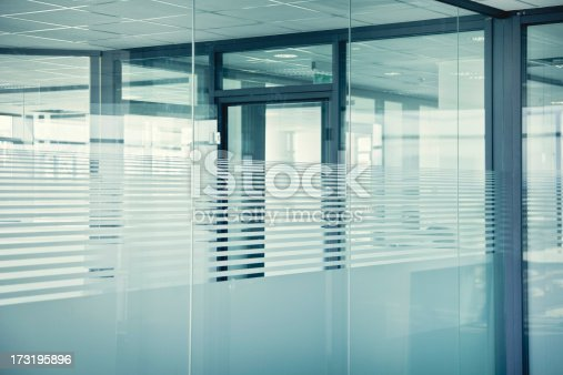 Empty glass offices.