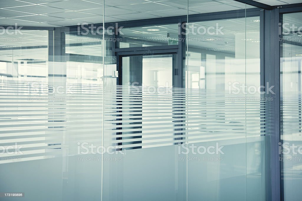 Empty glass offices stock photo