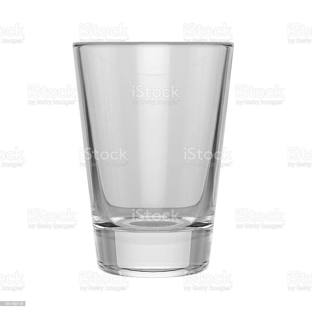 Empty glass on white background, mock up stock photo