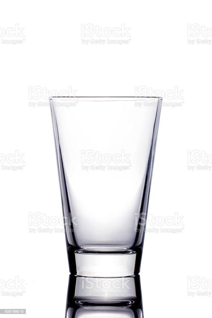 Empty glass on white background stock photo