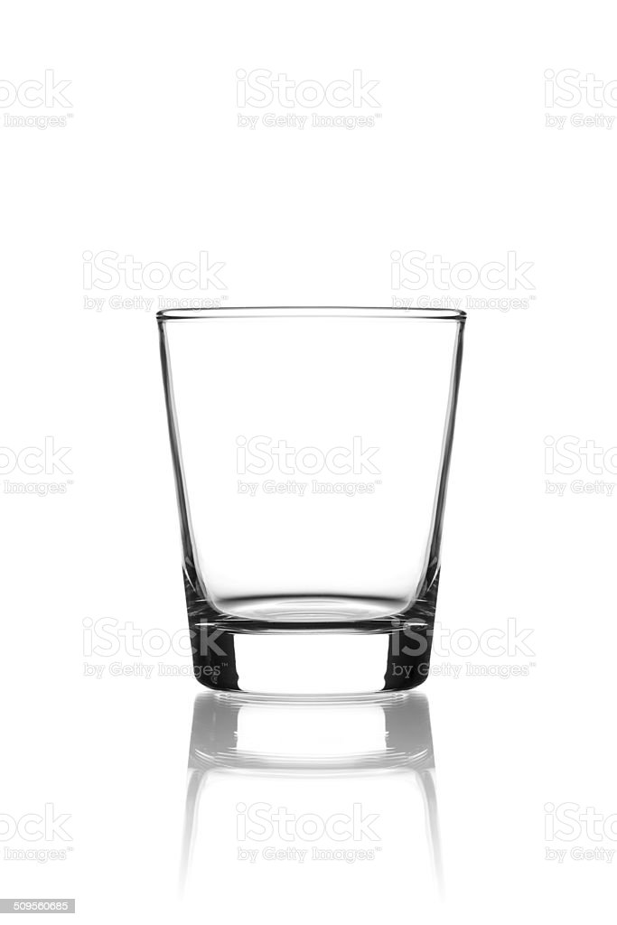 Empty glass on white stock photo