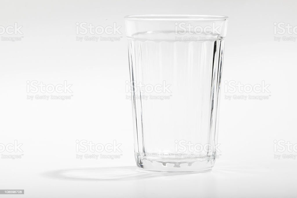 Empty glass royalty-free stock photo