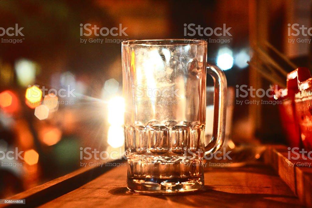 Empty Glass stock photo