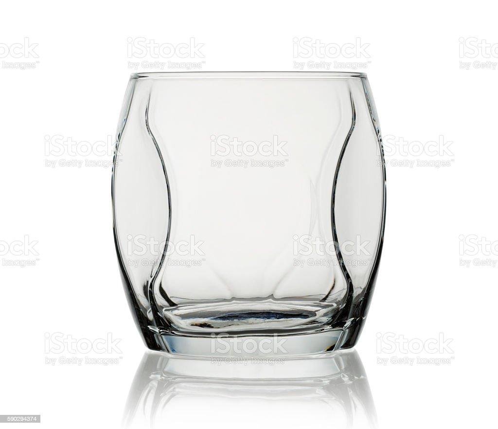 Empty glass royaltyfri bildbanksbilder
