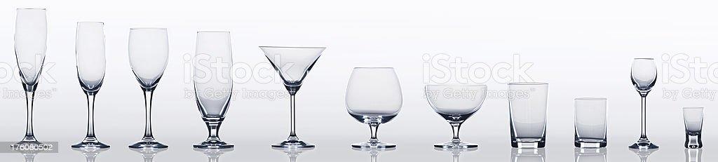 Empty glass set royalty-free stock photo