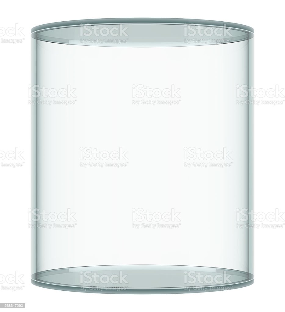 Empty glass showcase stock photo